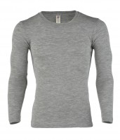 Engel - herre langærmet t-shirt - uld & silke - grå