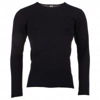 Engel - herre langærmet t-shirt i økologisk uld & silke - sort
