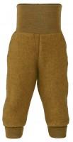 Engel - bukser i økologisk uldfleece - safran