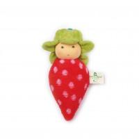 Nanchen - jordbær dukke rangle