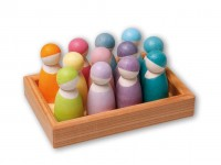 Grimms - 12 regnbue venner - pastelfarver