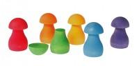 Grimms - svampe byggesæt - 12 dele - klassiske farver
