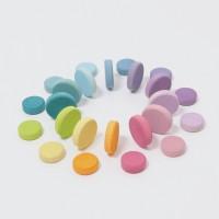 Grimms - coins - 24 stk. - pastelfarver