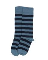Grödo -knæstrømpe - uld & bomuld - blåstribet