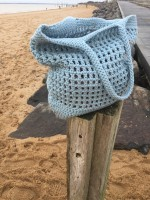 By Lohn - handmade Crochet Bag - powder blue