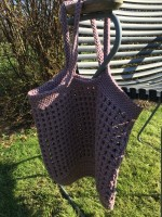 By Lohn - handmade Crochet Bag - twilight mauve