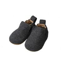 Haflinger - indesko - hafli - uld - naturgummisål - antracitgrå