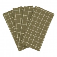 Haps Nordic - stofservietter - 4 stk. - olive check