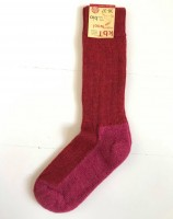 Hirsch - uldsokker til voksne - ekstra forstærket - rød & pink