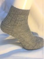 Hirsch - ankelsokker til voksne - ekstra forstærket - grå