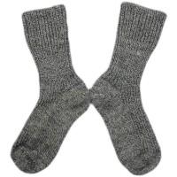 Hirsch - økologiske uldstrømper - grå