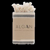 Algan - Kavun gæstehåndklæde - 45x90 cm. - sort
