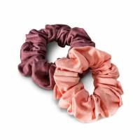 Kooshoo - økologiske hår scrunchie - koral & blomme