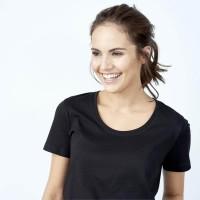 Living Crafts - dame - kortærmet t-shirt - sort