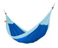 Hængekøje til hele familien incl. monteringssæt - økologisk bomuld - blå