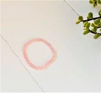 Rosa quartz armbånd - voksen - 18 cm.