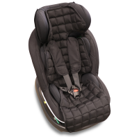 N-Sleep - kapok autostol/klapvogns indsats - sort - flere størrelser