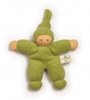 Nanchen - dukke 17 cm. - grøn