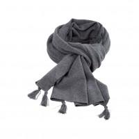 Pure Pure - stort halstørklæde - merinould & kashmir - grå