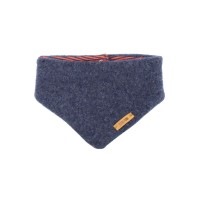 Pure Pure - uldfleece tørklæde - jeansblue