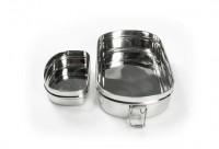 Pulito - madkasse i stål - 3-i-1 - oval