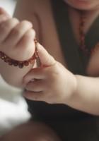 rav armbånd - baby & barn - poleret cognac