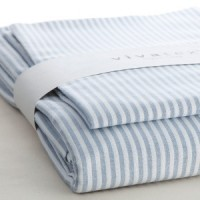 VivaTex - sengesæt - voksen størrelser - seablue stribe