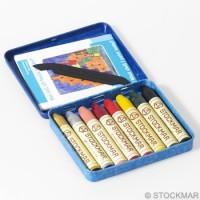 Stockmar - bivoksfarver - 8 bivoksstifter - tillægsfarver m. guld og sølv