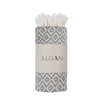 Algan - Sumak gæstehåndklæde - 65x100 cm. - grey