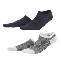 Living Crafts - 2-pak sneakers strømper - marine og marinestribede