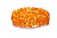 rav armbånd - voksen - spiral - honey