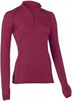 Engel Sports - dame - langærmet bluse med lynlås - slim fit - bordeaux