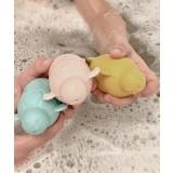 Play and store - 3 skildpadder til sjov leg - gul-mint-rosa