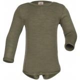 Engel | langærmet body | uld & silke |olive