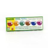 ÖkoNORM - grøntsagsfarvelade - mini vandfarver - 6 farver