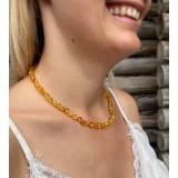 Rav halskæde - voksen - honey - poleret