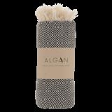 Algan - Elmas badelagen - 100x180 cm. - black