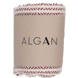 Algan - Elmas gæstehåndklæde - 65x100 cm. - dark terracotta