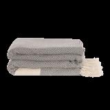 Algan - Elmas plaid/sengetæppe - 200x240 cm. - grey