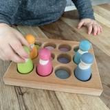 Grimms - sorting board - pastelfarver