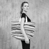 Bo Weevil - stor taske - kraftig canvas - stripes