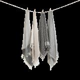 Algan - Sumak gæstehåndklæde - 65x100 cm. - black