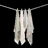 Algan - Sumak gæstehåndklæde - 65x100 cm. - olive