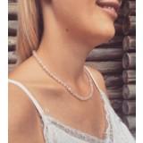 Rose quartz halskæde - voksen