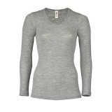Engel - dame langærmet t-shirt - uld & silke - grå