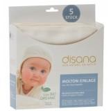 DISANA - 5 stk. flonel-indlæg - natur