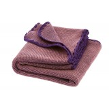 DISANA - babytæppe - økologisk uld - lilla/rosé melange