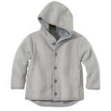 DISANA   uldjakke   kogt uld   grå - ældre udgave