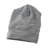 Engel - babyhue/beanie - uld & silke - grå melange