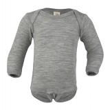 Engel - langærmet body - uld & silke - grå
